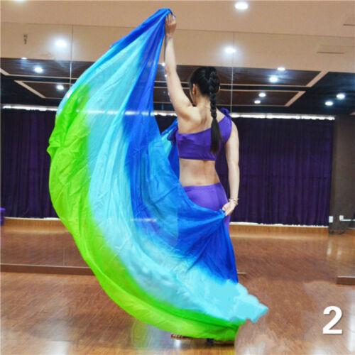 Belly Dance Costume Gradient Color Dancing Silk Shawl Scarf Veil Dancewear Show