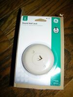 Lot Of 10 Round Wall Jack Jacks Telephone Almond Color 21406 Ge General Electric