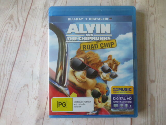 NEW Alvin and The Chipmunks The Road Chip Bluray + Digital HD