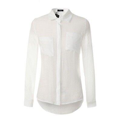 Sexy Fashion Linen Long Sleeve Women T-Shirt Casual Tank Loose Tops Blouse Shirt