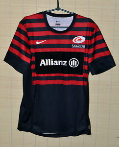 SARACENS-RUGBY-UNION-SHIRT-JERSEY-NIKE-SIZE-S-ADULT