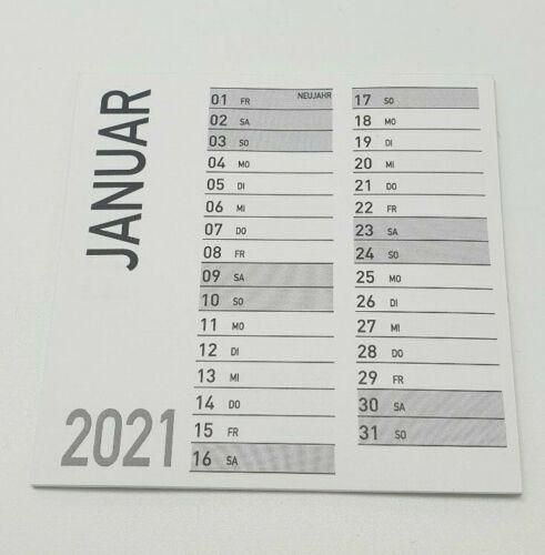 5 x Minikalender Jahr 2021 9x9 cm Abreißblock Basteln Kalender Geschenk Idee