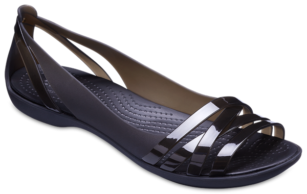 f82becad8670 Women s Crocs Isabella Huarache 2 Flat W Sandals in Black UK 6   EU ...