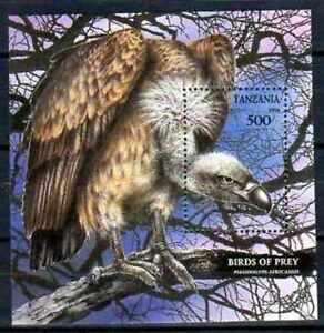 Oiseaux-Tanzanie-9-bloc-oblitere
