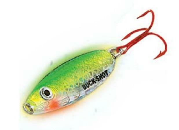 Northland Tackle BRS6-24 Buck Shot Rattle Spoon Super Glo Chub Ice Lure 1//2 oz