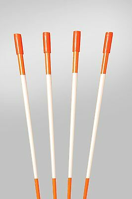 Driveway Markers Snow Stakes 50 Pack of 48 Inch Long Orange markers