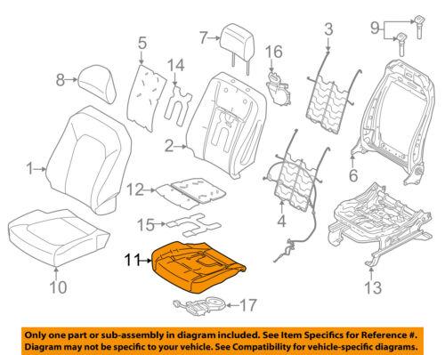 FORD OEM F-150 Front Seat Bottom-Foam Cushion Pad Insert Left FL3Z15632A23A