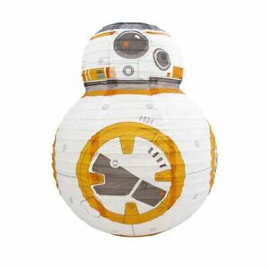 Star Wars Bb-8 Paper Ceiling Light Lamp Shade Easy Fitting Bedroom Accessories