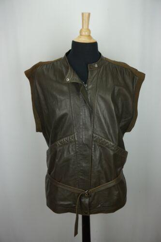 Gucci Leather Belted Vest Brown Vintage Mens Vest