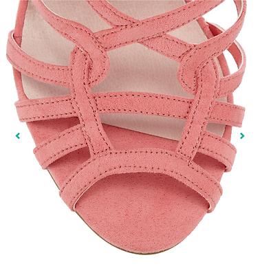 Faith Luis para mujer UK 5 EU 38 Rosa 4.5 Tacón Alto Zapatos Sandalias Nuevo Rrp £ 49.00