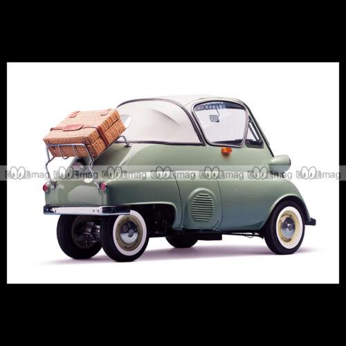 #pha.000363 Photo BMW ISETTA 300 /'BUBBLE WINDOW/' CABRIOLET 1956 BUBBLE CAR MINIC