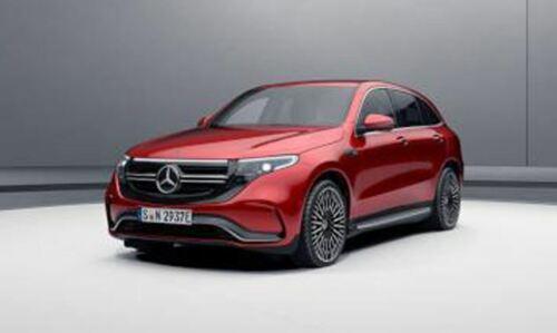 EQC 400 Mercedes Benz N 293 eSUV 4matic Hyazinthrot 1:87 Neu Herpa OVP