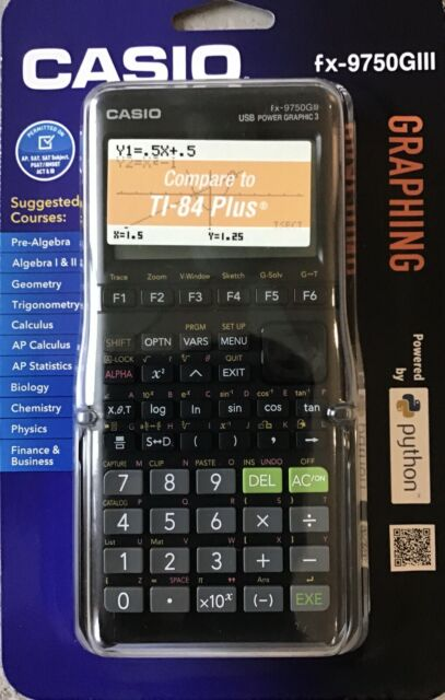 Casio fx-9750GIII Graphing Calculator - Black, Compare To TI-84 Plus