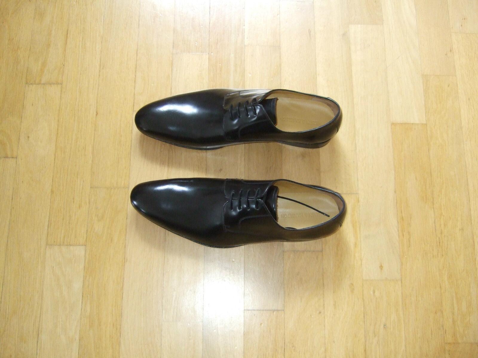 Neu HAMILTON elegante Schnürrschuhe MELVIN & HAMILTON Neu Größe 52 schwarz innen außen Leder ddc275