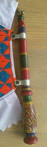 AUTHENTIC Punjab tradizionale pakhi handmade intagliati in legno Verniciatura tessuti FAN M