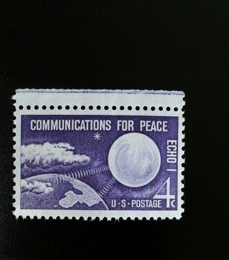 1960 4c Echo I Communications Satellite, Peace Scott 11