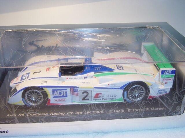 Spark S1805 Audi R8 24h Le Mans 2005, 1 18, OVP  | Tadellos