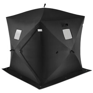 2-person Portable Pop Up Ice Shelter Fishing Tent Outdoor Fish Equipment