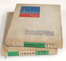 4x5 ANSCO FILM SHEETS, SET OF 2 EXPIRED IN 1950S