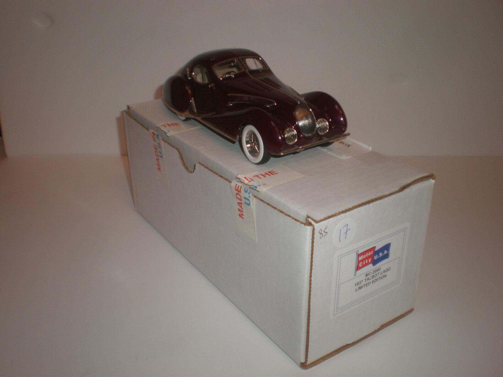 1 24 MOTOR CITY 1937 TALBOT Lago MC-2000 Handmade