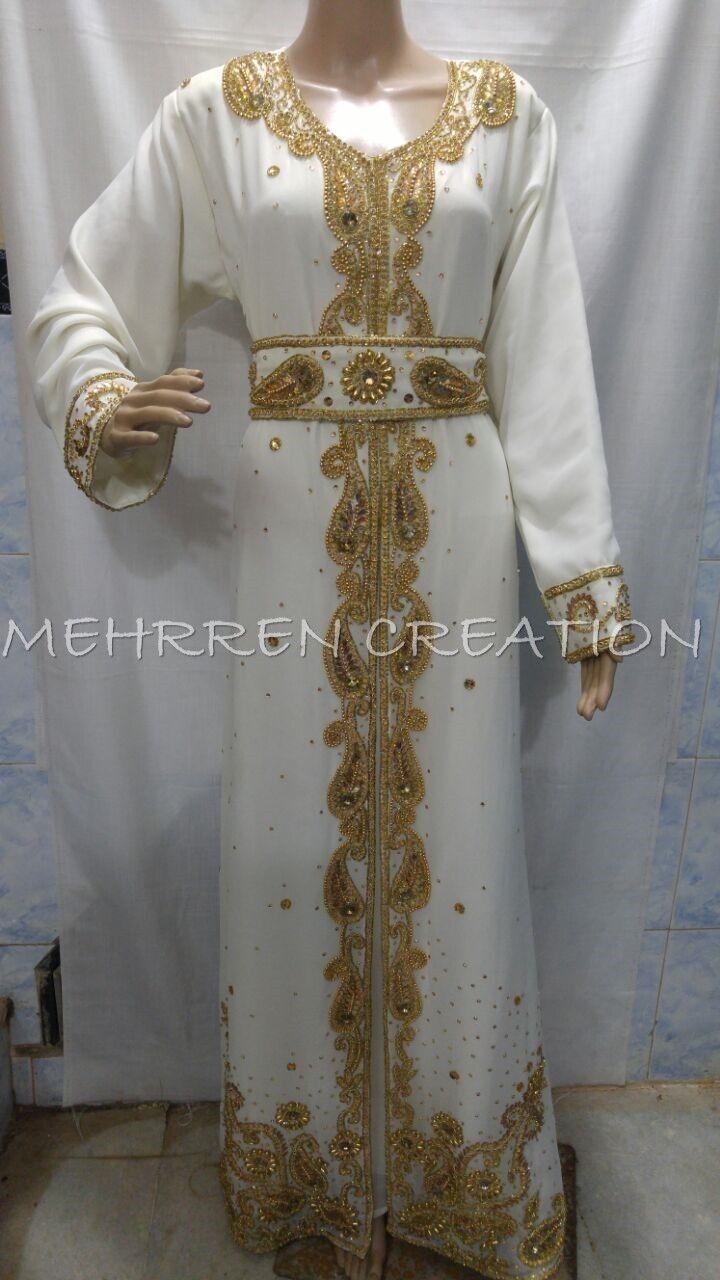 DUBAI BRIDAL KAFTAN MODERN JILBAB ARABIAN ISLAMIC GOWN GOWN GOWN WOMEN CLOTHING EDH 0805 a54a5a