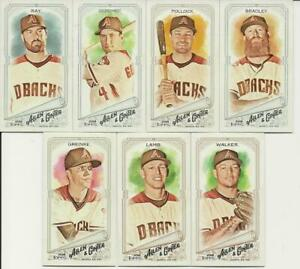 ARIZONA-DIAMONDBACKS-2018-Topps-Allen-amp-Ginter-MINI-Parallel-TEAM-SET-7-Cards