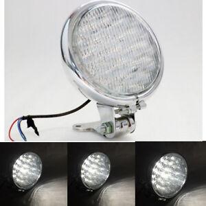 """12V Motorcycle Chrome 5"""" 30 Led Headlight For Harley Cafe Racer Bobber Choppers"""