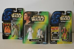 Star Wars Lot of 3 Kenner Action Figures Princess Leia R2D2Tusken Raider Nien