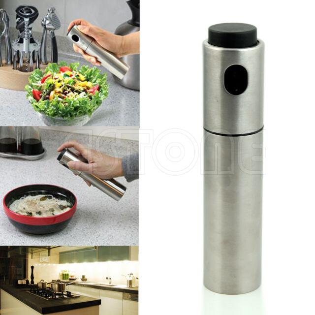 Stainless Steel Olive Mister Spray Pump Fine Bottle Oil Sprayer Pot Cooking Tool