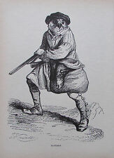 Grandville EIN WILDDIEB Reprint aus 1842 Reproduktion art print