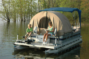 Image is loading Pontoon-Boat-Zippered-Enclosure-SUN-Shade-Shelter-Privacy- & Pontoon Boat Zippered Enclosure SUN Shade Shelter Privacy ...