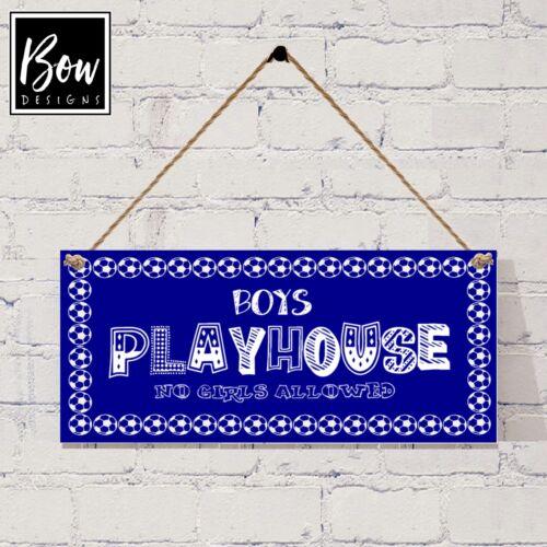 G021 garçons playhouse//den signe interdit aux filles bleu de football