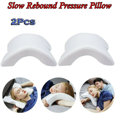 2X Memory Foam Orthopedic Neck Pillow Slow Rebound Neck Protection Soft Cervical