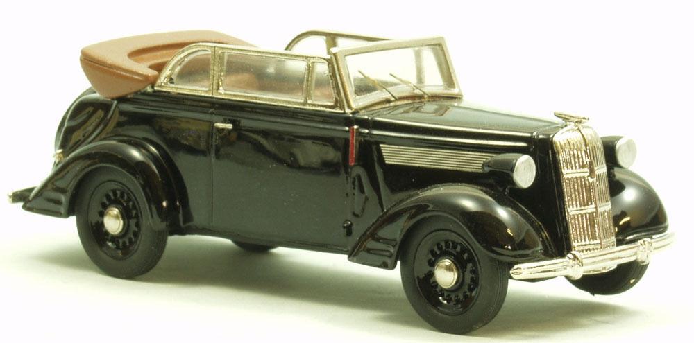 OPEL SUPER 6 Cabriolet modello di auto a mano piccolo serie weissmetall 1/43 tw310-5