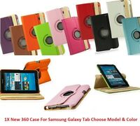 360 Rotating Smart Leather Case Cover With Stand For Samsung Tab 2 2nd 7.0 7