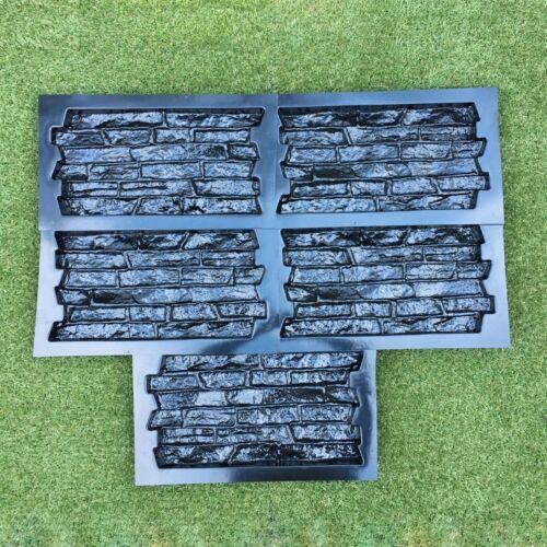 Set 5 pcs ABS Plastic Molds for Concrete Plaster wall stone tiles CONCRETE MOULD