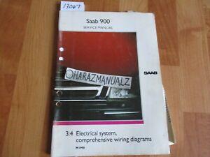 1990 SAAB 900 Electrical System Comprehensive Wiring ...