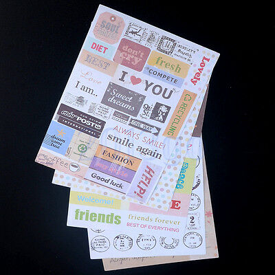 6 encourage Album Scrapbook Calendar Diary Planner Card Stickers Decoration YG