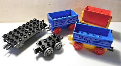 LEGO Duplo Eisenbahn Fahrgestell Thomas schwarz Grau Waggon Lok Anhänger 3353