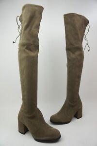 3eb8604eb3b Stuart Weitzman Hinterland Praline Grey Over The Knee Boots Size 5 M ...