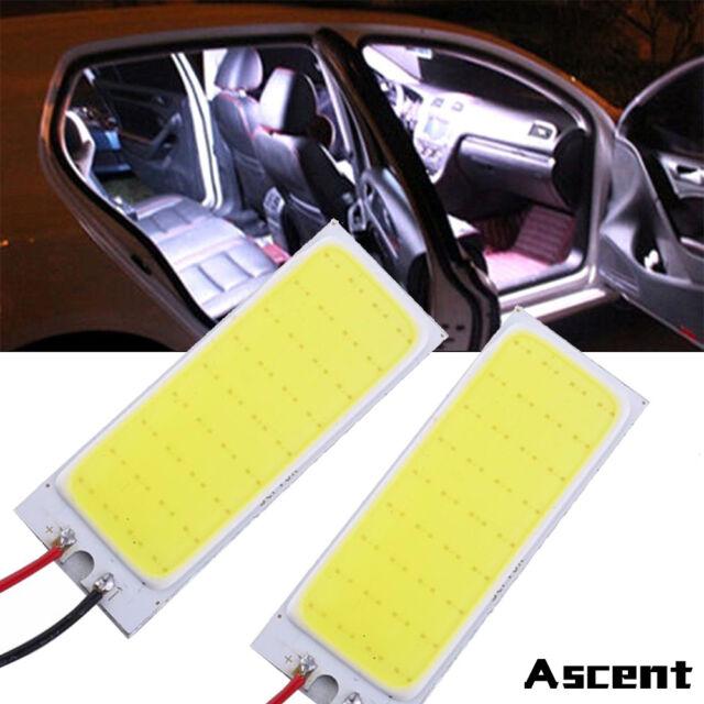 2X Xenon HID White 36 COB LED Dome Map Light Bulb Car Interior Panel Lamp Bright