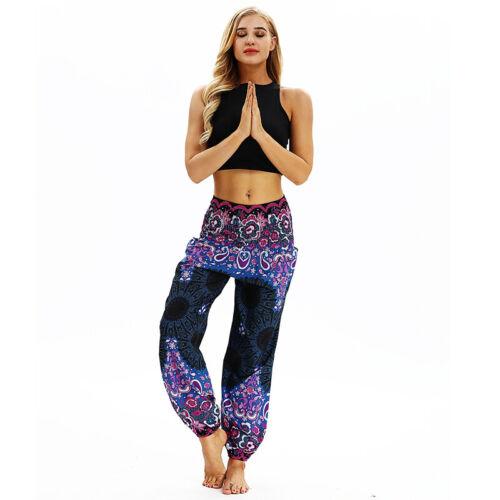 Damen Haremshose Pumphose Aladinhose Ballonhose Yoga Hippie Strandhose Jogging