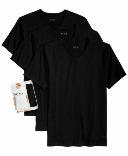 New Hugo Boss Men/'s Cotton 3 Pack V-Neck T-Shirt Undershirt Black S,M,L,XL