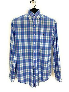 Vineyard-Vines-Men-Classic-Fit-Tucker-Shirt-S-Blue-Plaid-Long-Sleeve-Button-Down