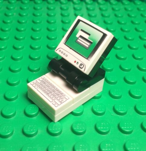 City Mini Figures Desktop With Monitor And Keyboard Tile Lego New MOC Computer