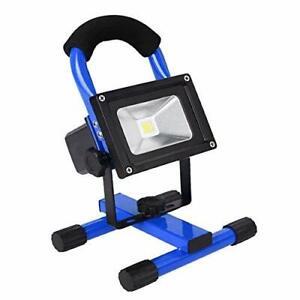 10W-Blanc-Projecteur-LED-Rechargeable-Portable-Eclairage-Exterieur-et-Interieur