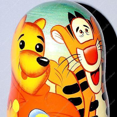 """7 /"""" Disney Winnie The Pooh Tiger Russische Matroschka Babuschka Matrioschka"""