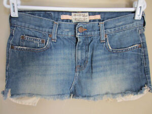 Abercrombie & Fitch Cut Off Denim Skirt Exposed Pockets 2
