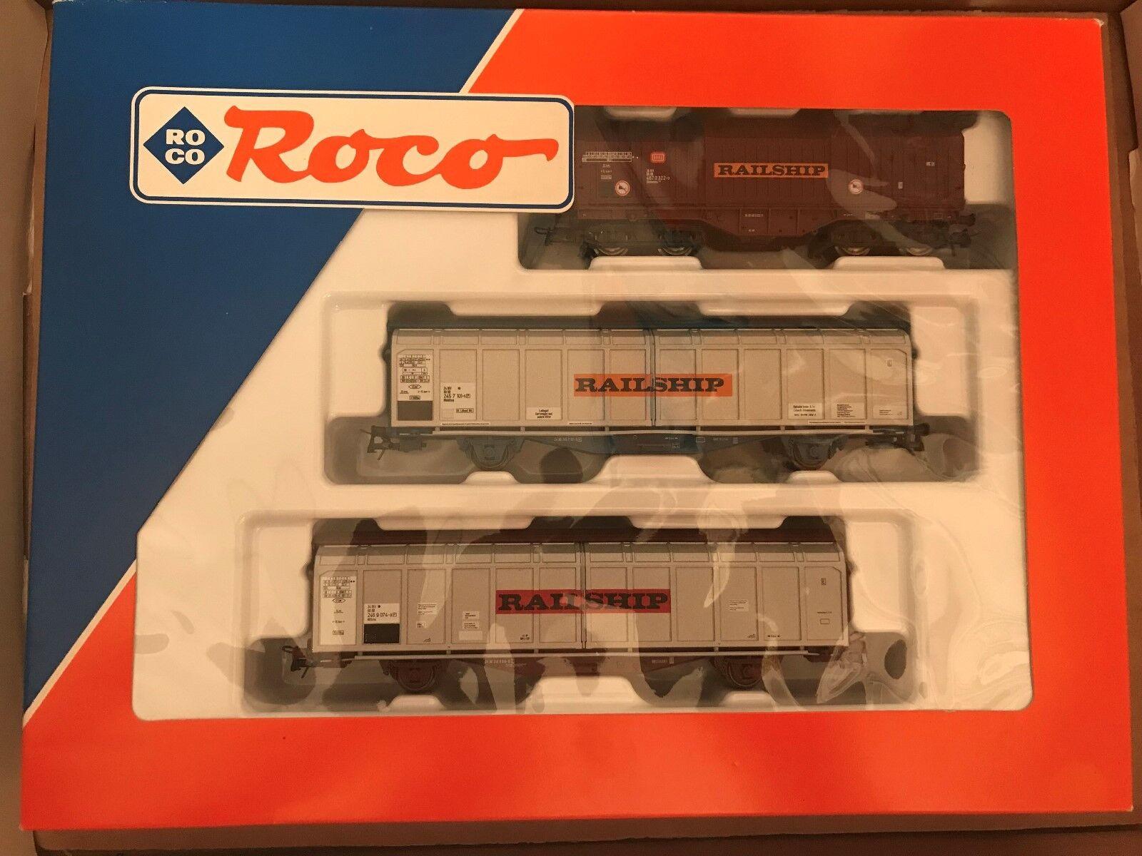 punto de venta barato Roco Ho 44104 Set Vagón de Cochega Railship DB DB DB Nuevo + Emb.orig  de moda