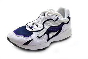 reputable site 825db b2ab9 Details about Saucony Women's Grid Jazz I Running Shoes White/Navy/Purple  Size 6 - NIB